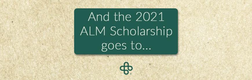 ALM scholarship award winner