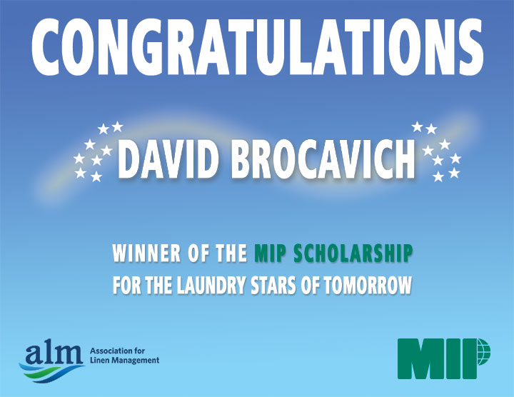 This year's recipient of the MIP Scholarship for the Laundry Stars of Tomorrow is...