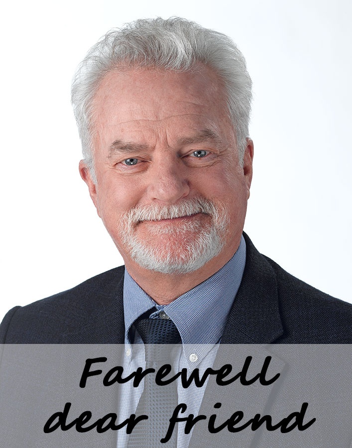 Tom Frame: A great colleague, a great friend, a truly incredible person! We'll miss you!