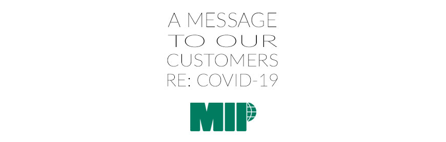 Message to our Customers, Covid19
